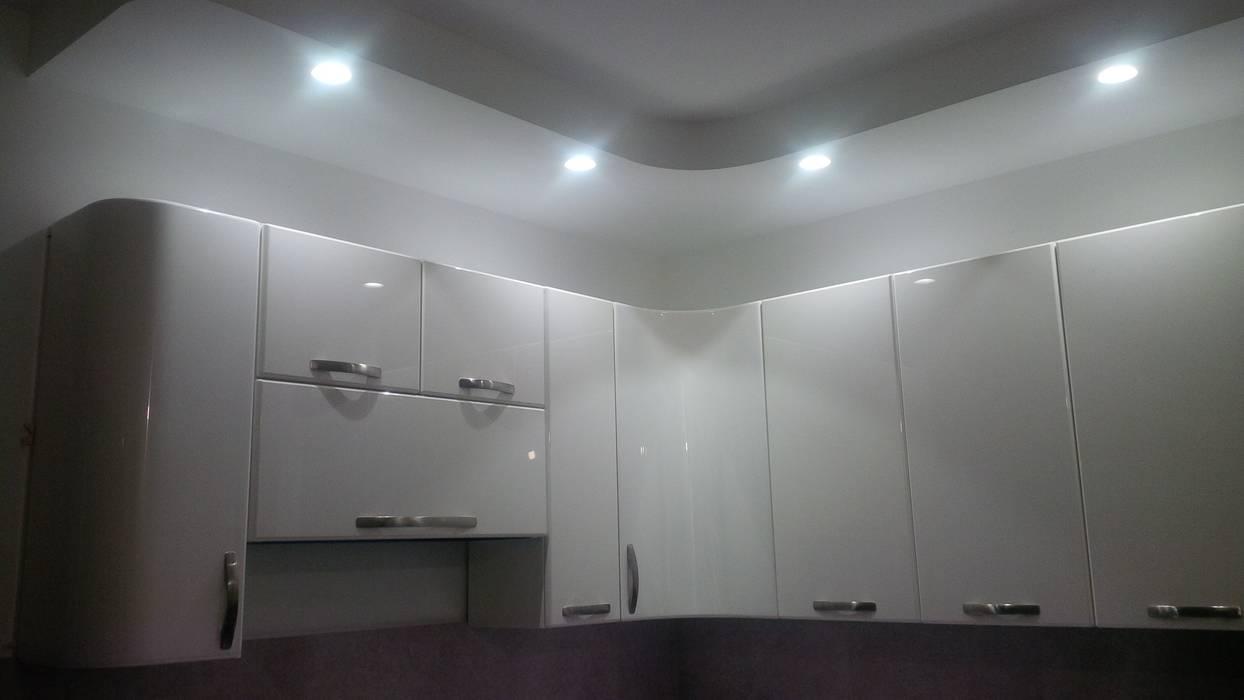 Cucina: particolare cartongesso ed illuminazione che richiama la ...