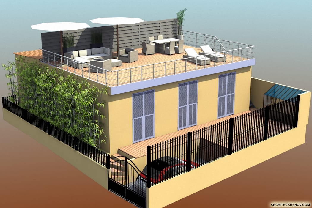 Balcones y terrazas modernos de ARCHITECKRENOV Moderno