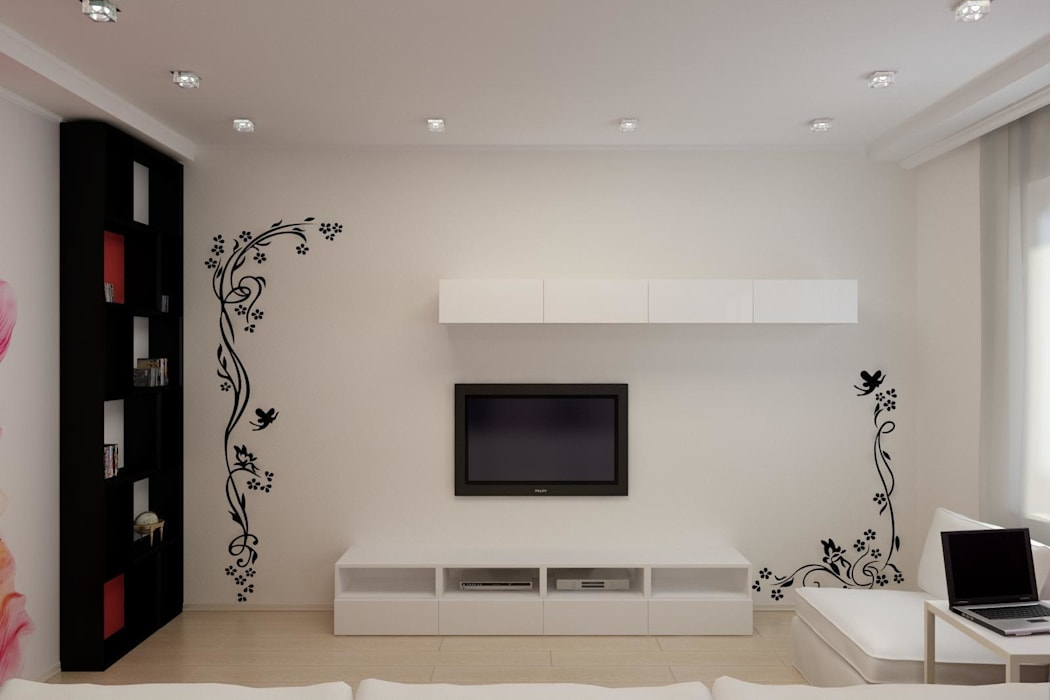 Дизайн проект частного дома в стиле авангард.: Коридор и прихожая в . Автор – Цунёв_Дизайн. Студия интерьерных решений.
