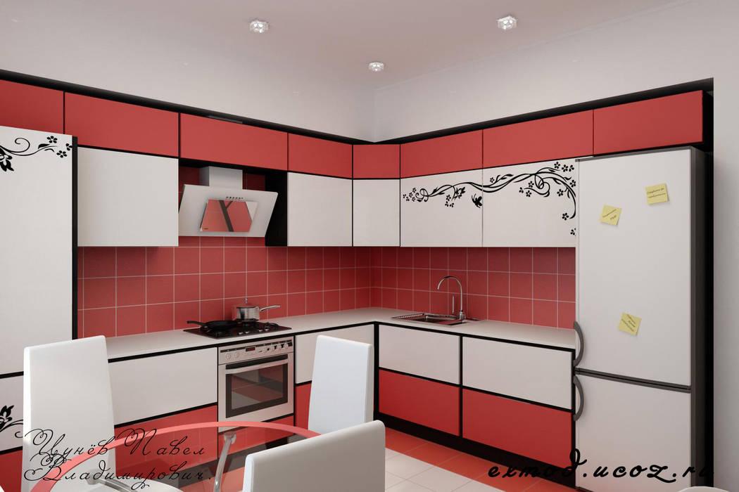 Дизайн проект частного дома в стиле авангард.: Кухни в . Автор – Дизайн студия 'Exmod' Павел Цунев