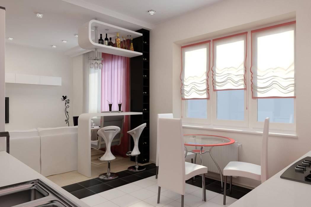 Дизайн проект частного дома в стиле авангард.: Гостиная в . Автор – Дизайн студия 'Exmod' Павел Цунев