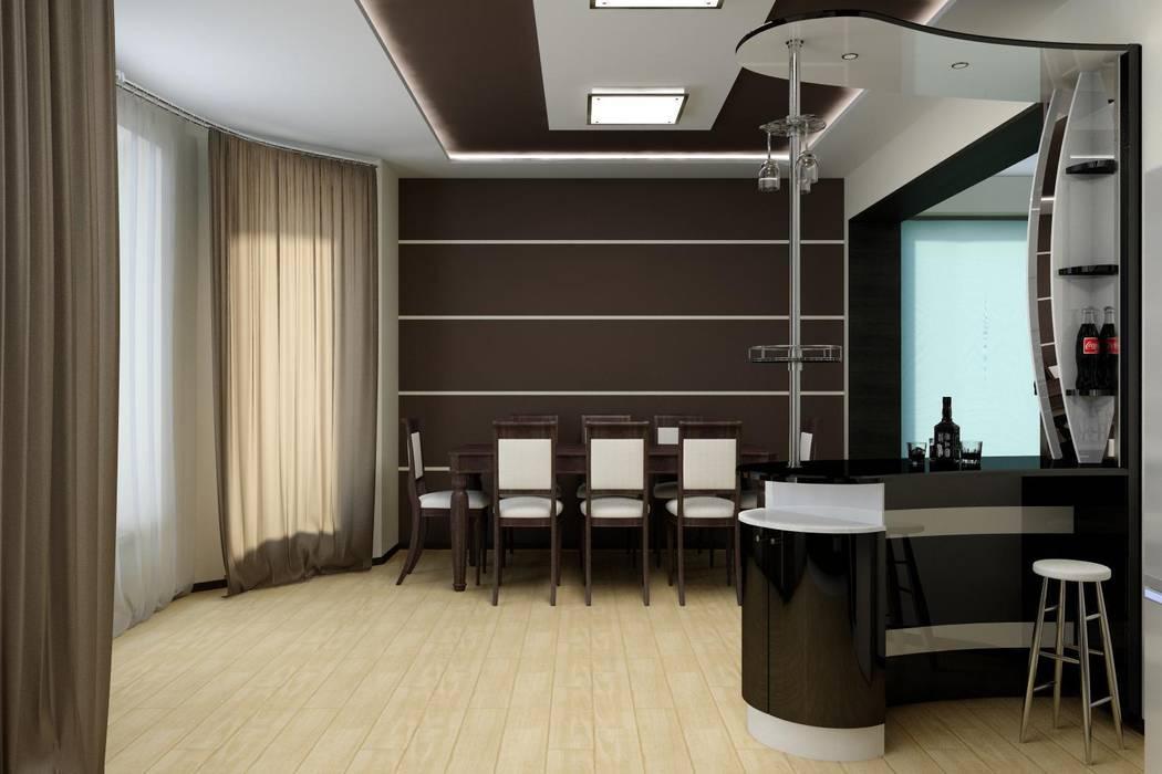 Частный дом в стиле минимализм.: Кухни в . Автор – Дизайн студия 'Exmod' Павел Цунев