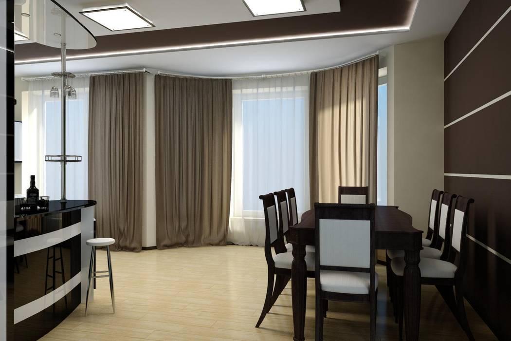 Частный дом в стиле минимализм.: Кухни в . Автор – Цунёв_Дизайн. Студия интерьерных решений.