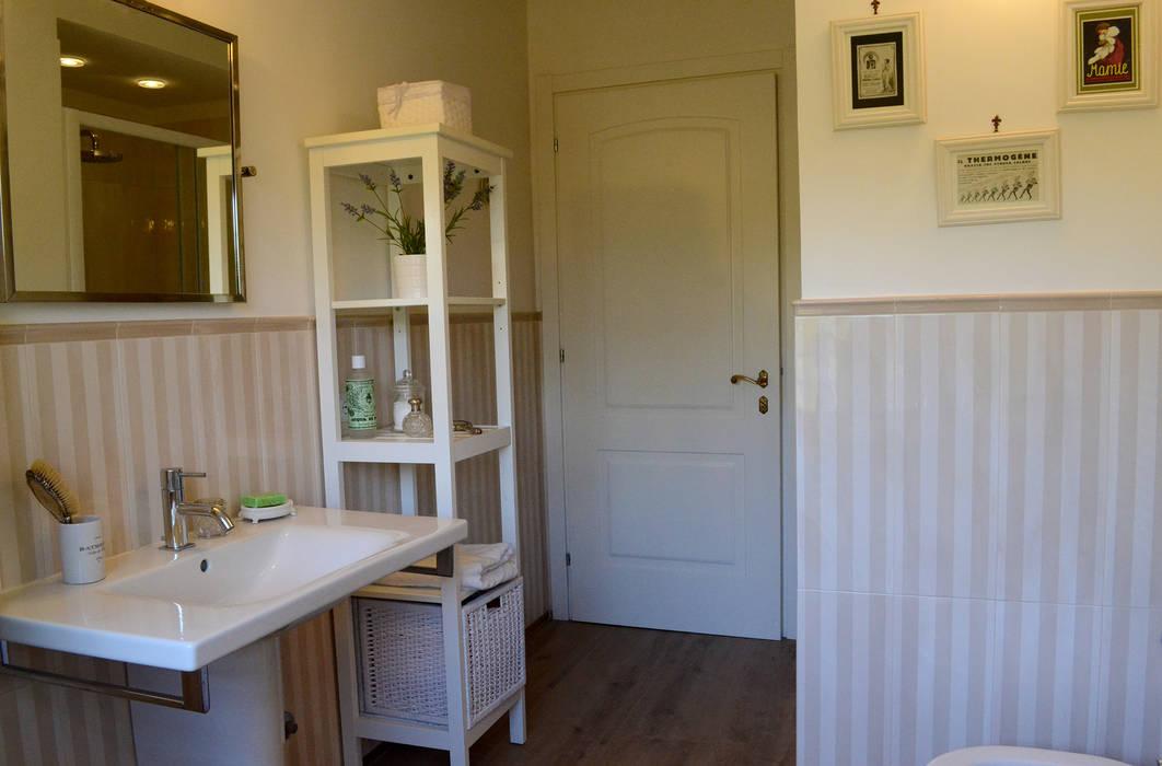 bagno degli ospiti bagno in stile in stile rustico di