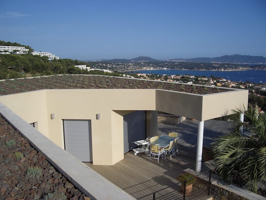 Une toiture végétalisée Vanessa Cottin Jardin moderne