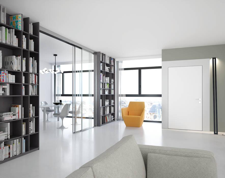 Portes de séparation coulissantes en verre : créativité et luminosité: Dressing de style  par PANAGET