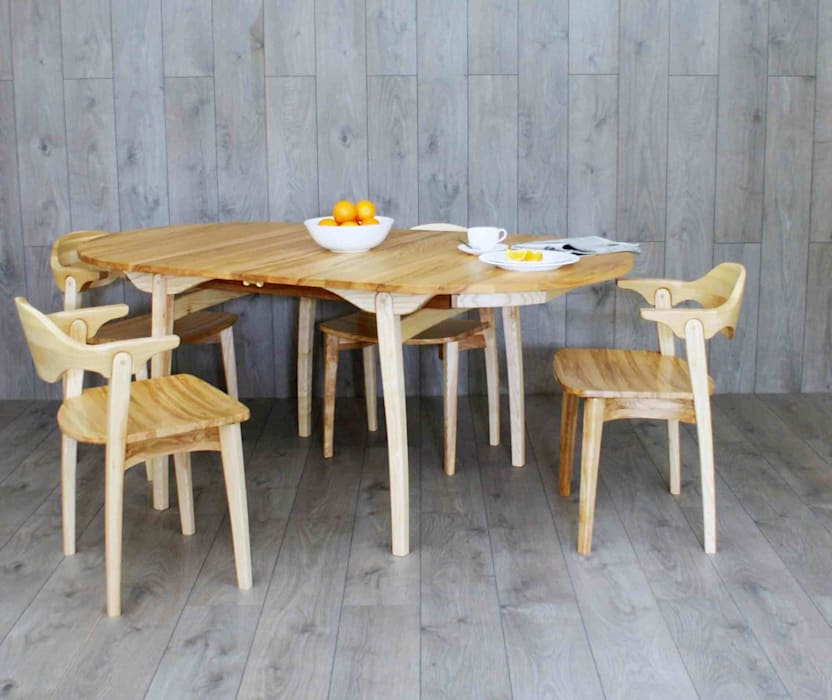 Valentine extending dining table and six chairs : modern  by Lee Sinclair Furniture, Modern