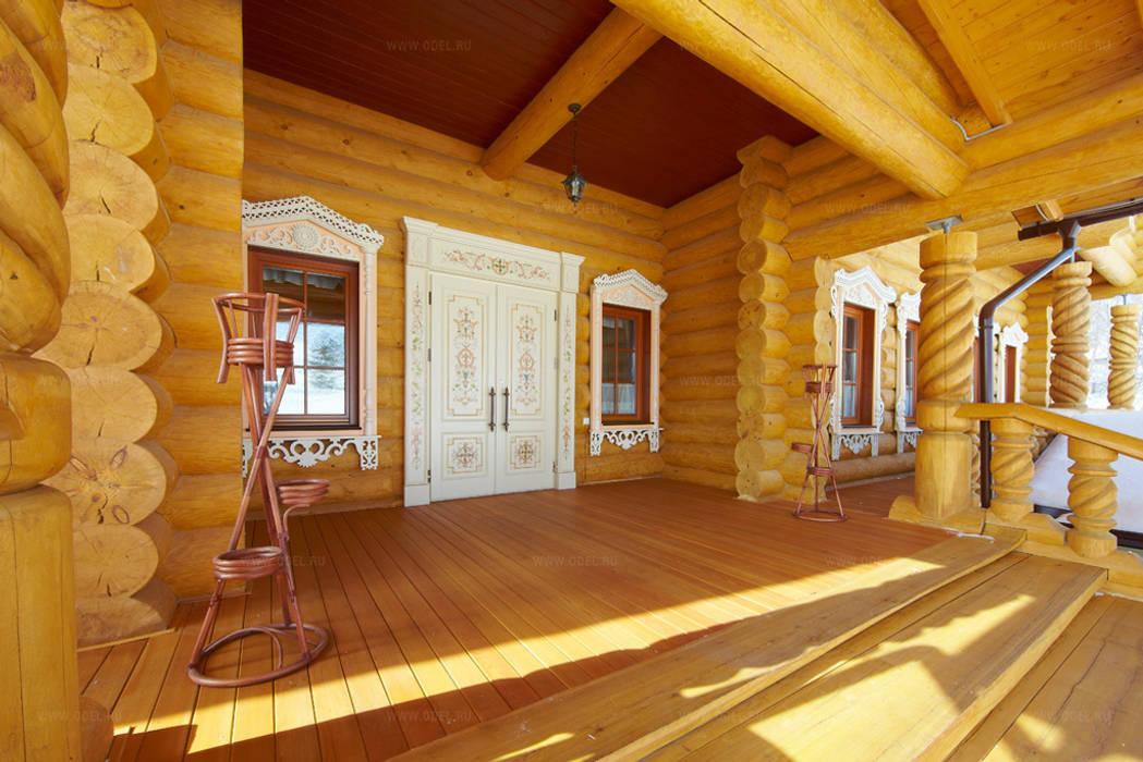 Крыльцо рубленного дома в русском стиле: Дома в . Автор – ODEL