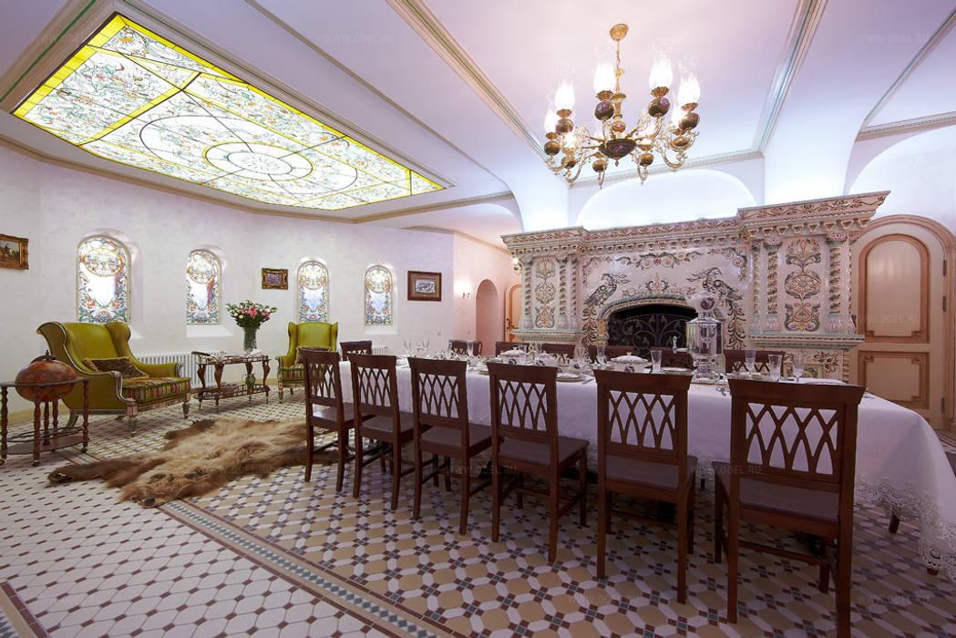 Трапезная: Столовые комнаты в . Автор – ODEL, Рустикальный