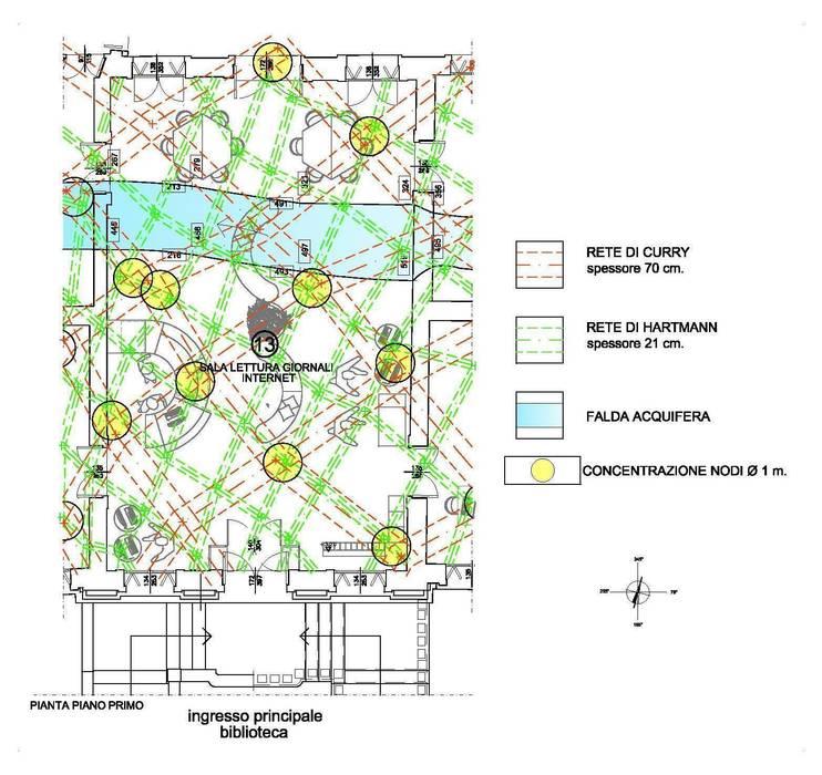 Indagine di geobiologia: Ingresso & Corridoio in stile  di Giuseppe Maria Padoan bioarchitetto - casarmonia progetti e servizi