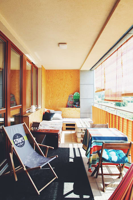 Balkon, Beranda & Teras Minimalis Oleh OFD architects Minimalis