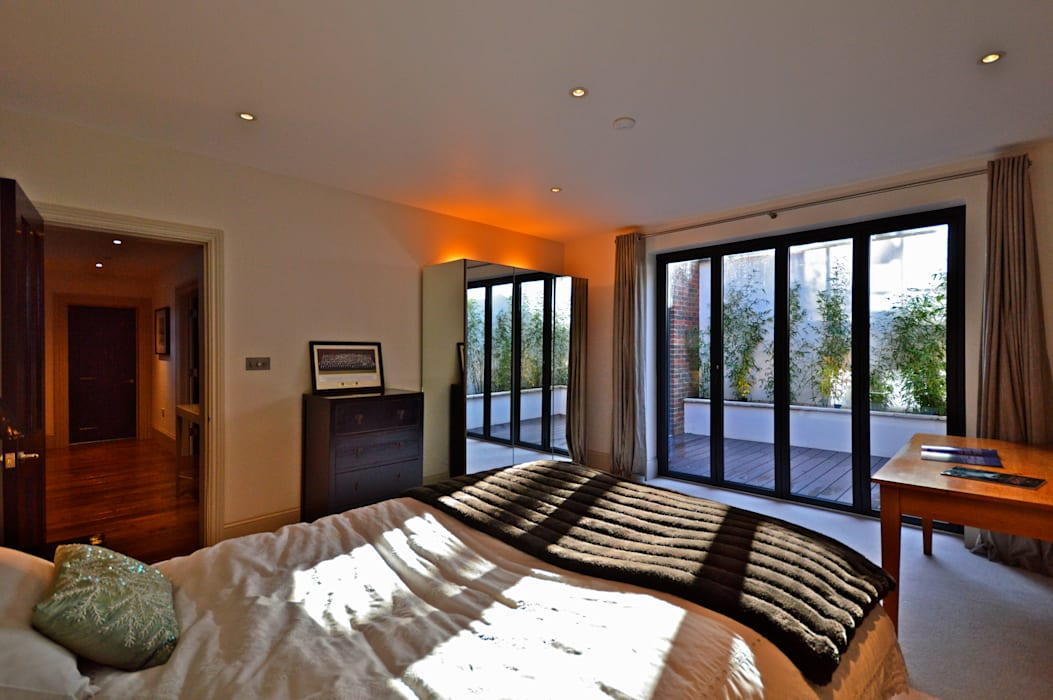 One of the basement bedrooms Modern style bedroom by Zodiac Design Modern