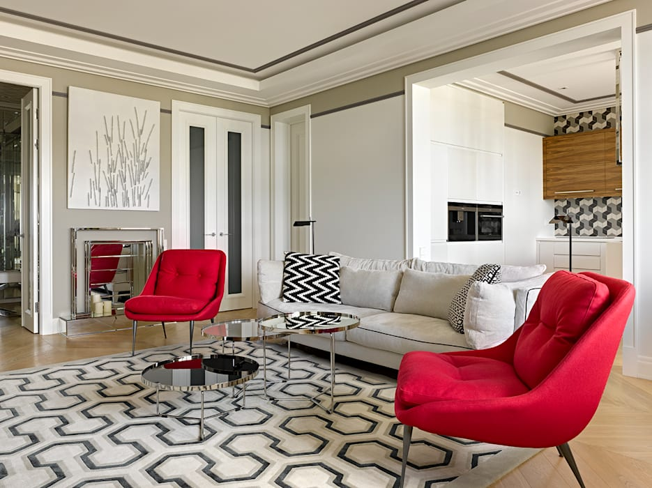 Eclectic style living room by Бюро TS Design Eclectic