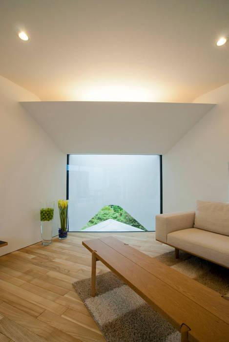 HMN residence 02: 浅香建築設計事務所 asaka architectural designが手掛けたリビングです。
