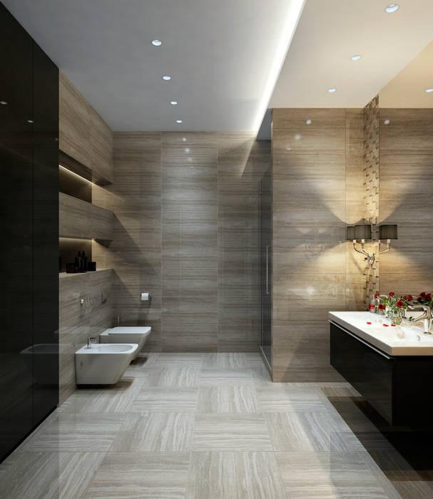 Grey elegance: Ванные комнаты в . Автор – Домрачева Екатерина, Модерн