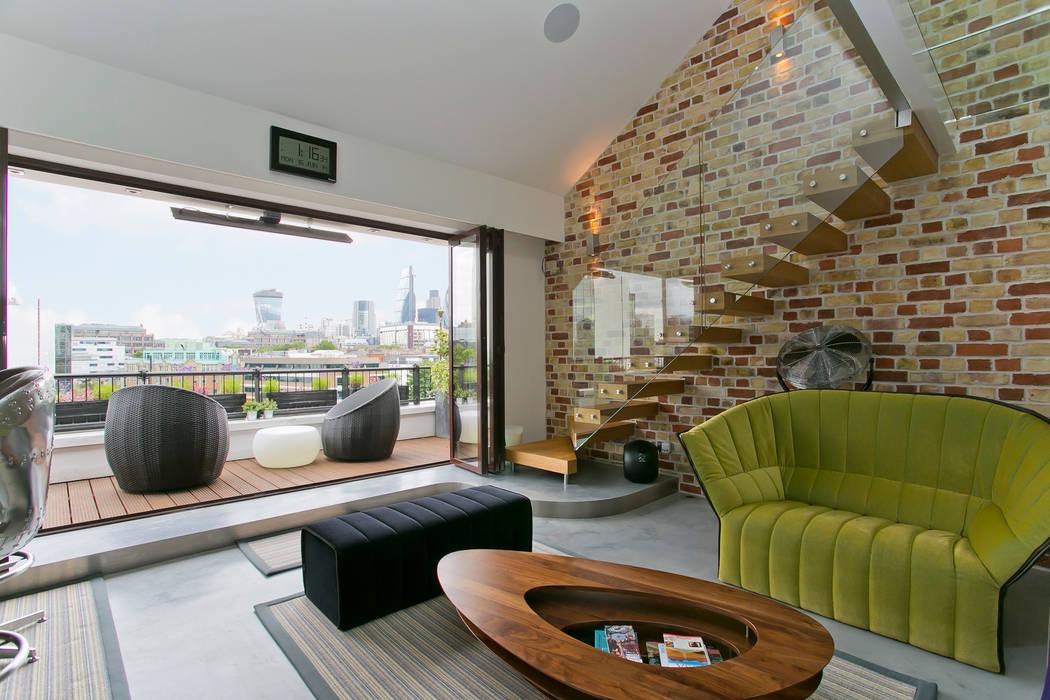 Living room Moderne Wohnzimmer von Temza design and build Modern