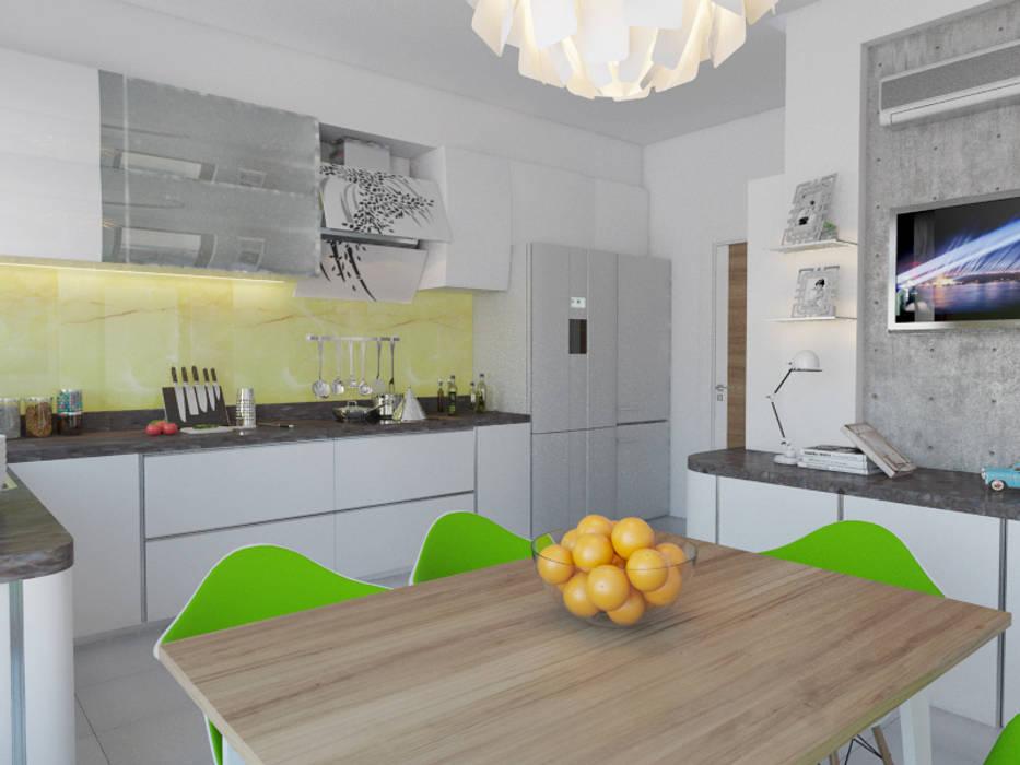 İNDEKSA Mimarlık İç Mimarlık İnşaat Taahüt Ltd.Şti. – Konut Projesi: modern tarz , Modern