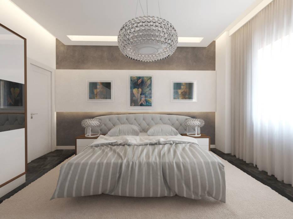 Bedroom by İNDEKSA Mimarlık İç Mimarlık İnşaat Taahüt Ltd.Şti.