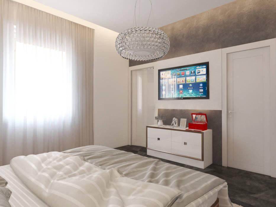 Dormitorios de estilo moderno de İNDEKSA Mimarlık İç Mimarlık İnşaat Taahüt Ltd.Şti. Moderno