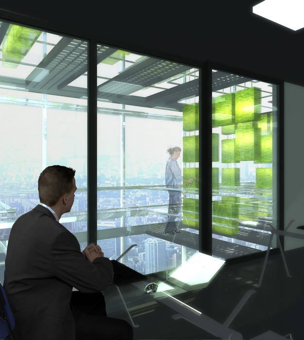 Bureaux et agriculture urbaine: Bureaux de style  par XLGD architectures