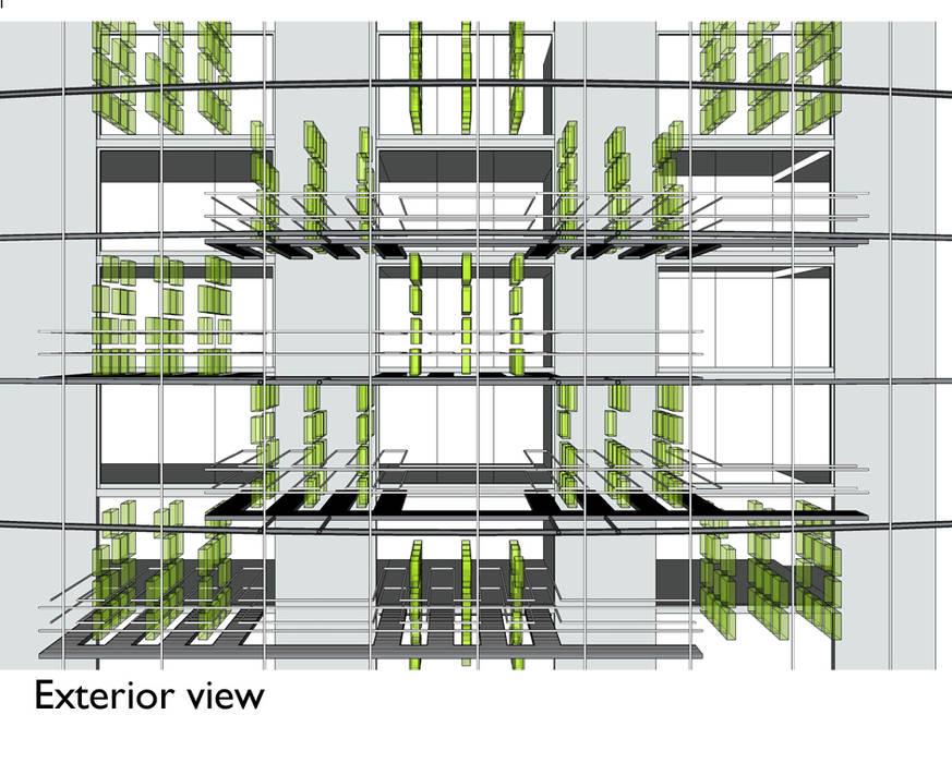 Agriculture verticale: Bureaux de style  par XLGD architectures