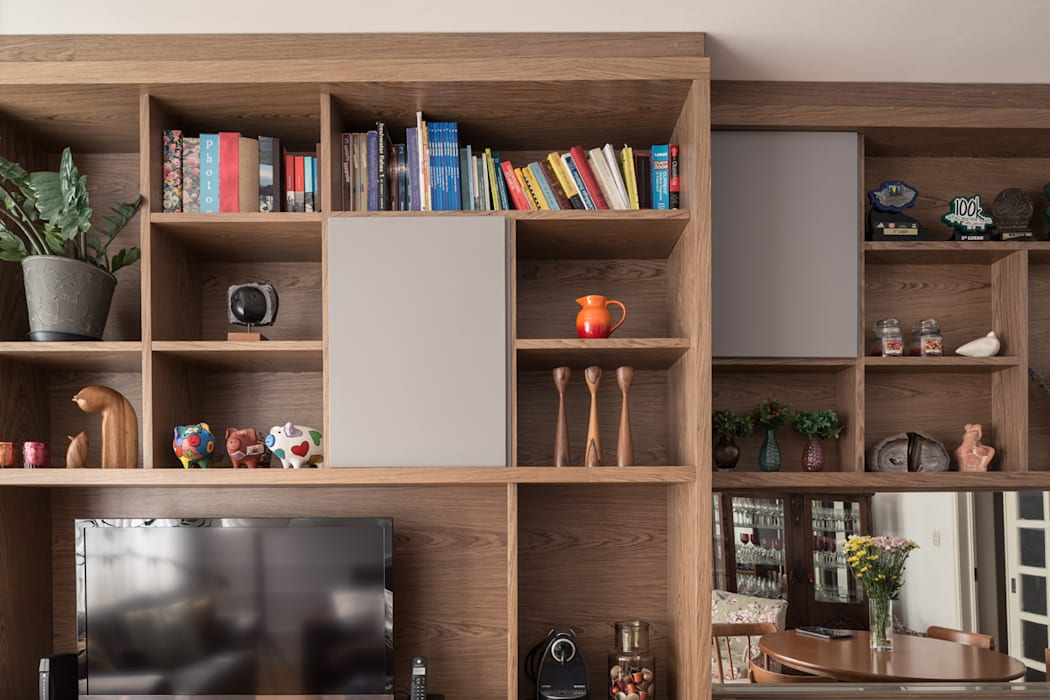 Estar: Salas de estar  por Blacher Arquitetura