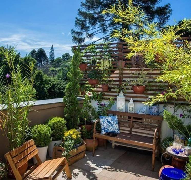 Terraço Jardins ecléticos por Blacher Arquitetura Eclético