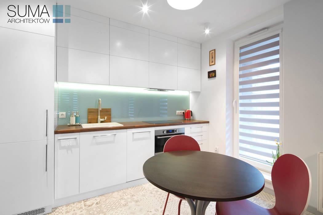 BLUE ONE SUMA Architektów Nowoczesna kuchnia
