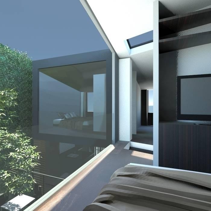 camera da letto: Camera da letto in stile in stile Minimalista di gk architetti  (Carlo Andrea Gorelli+Keiko Kondo)