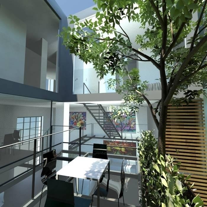 Giardino sopraelevato: Giardino in stile  di gk architetti  (Carlo Andrea Gorelli+Keiko Kondo)