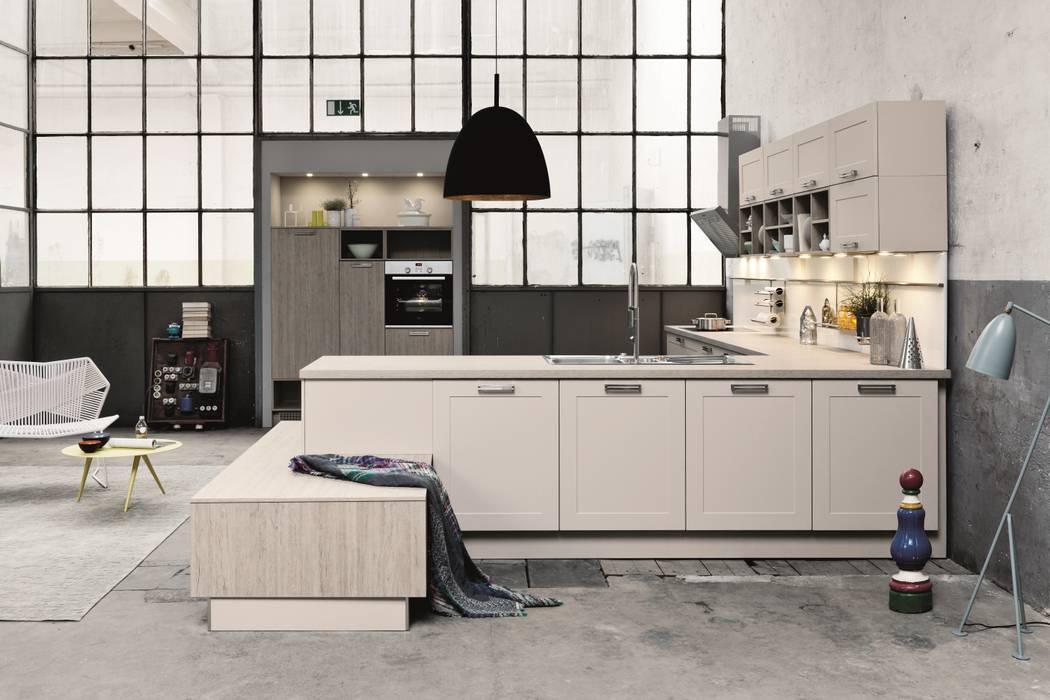 Warehouse kitchen design Industrial style kitchen by LWK London Kitchens Industrial