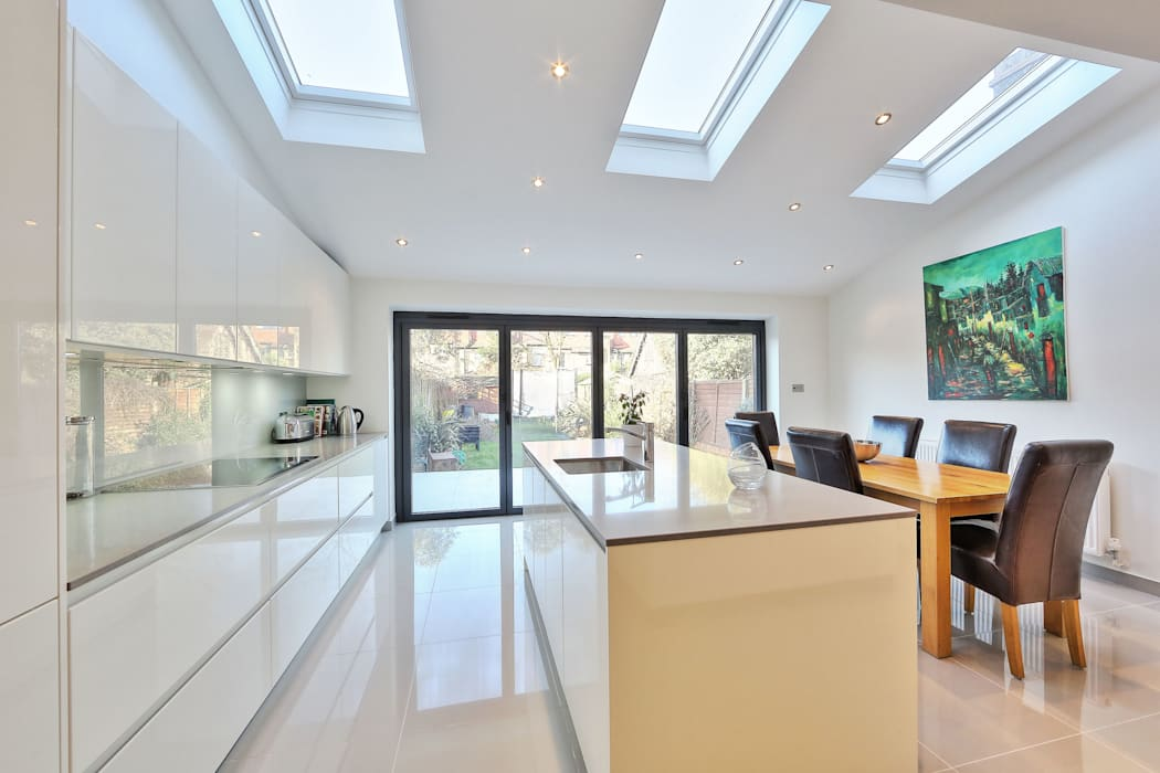 Kitchen Rear Extension Ealing With Pitched Roof Dapur Modern Oleh Homify Modern Homify