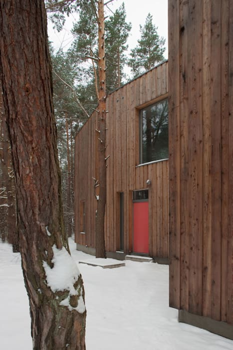 Dom w Józefowie Minimalistyczne domy od ANONIMOWI ARCHITEKCI Minimalistyczny