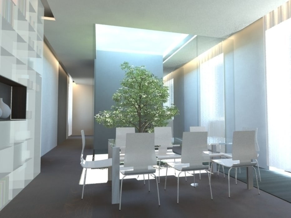 Comedores de estilo minimalista de gk architetti (Carlo Andrea Gorelli+Keiko Kondo) Minimalista