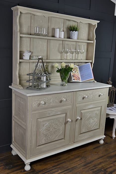 Prime Shabby Chic Antique Oak Kitchen Dresser Country By The Download Free Architecture Designs Terstmadebymaigaardcom