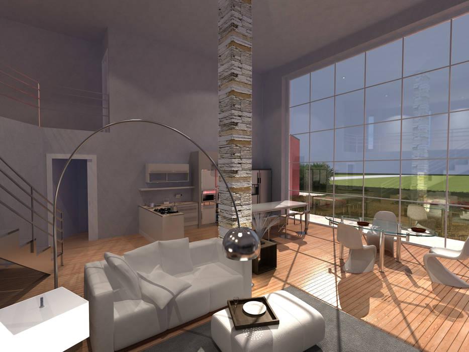 foto 6: Soggiorno in stile in stile Moderno di studio associato Chinellato - Favaretto