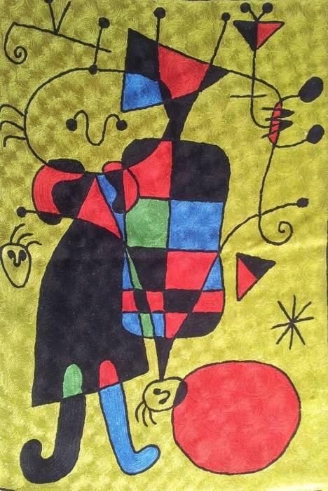 Miro wall art rugs:  Walls by kashmir modernart gallery