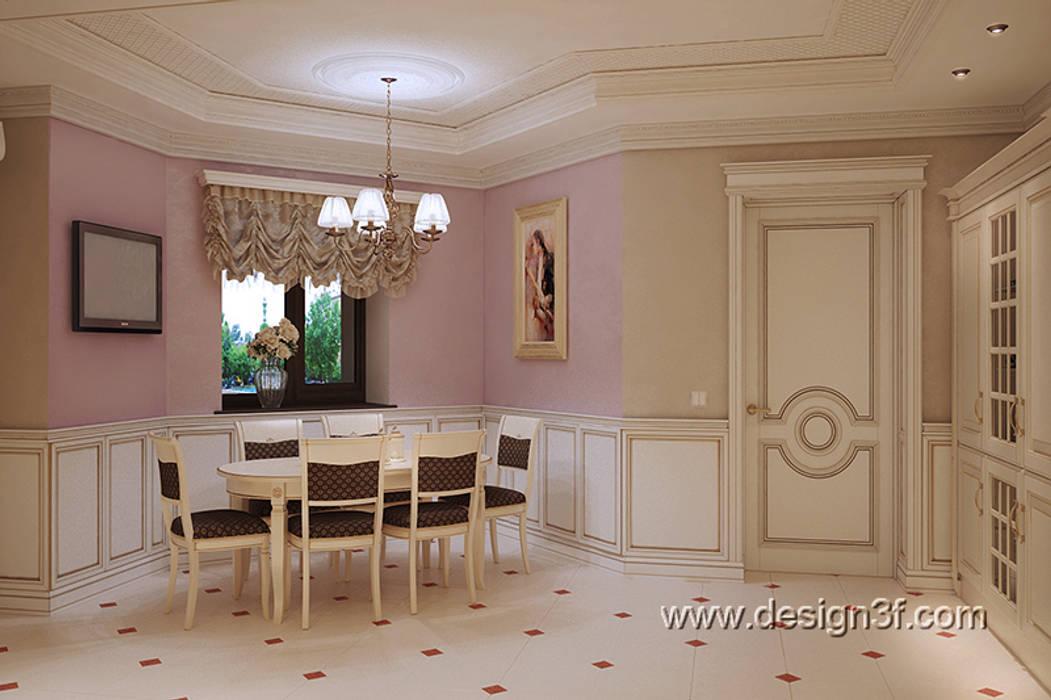 Cocinas de estilo clásico de студия Design3F Clásico