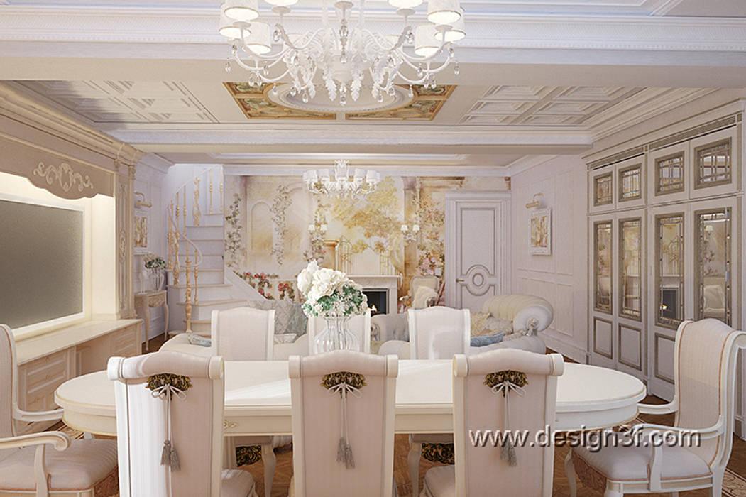 гостиная студия Design3F Гостиная в классическом стиле