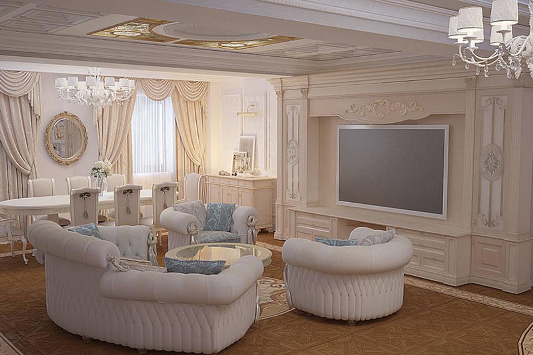 Livings de estilo clásico de студия Design3F Clásico