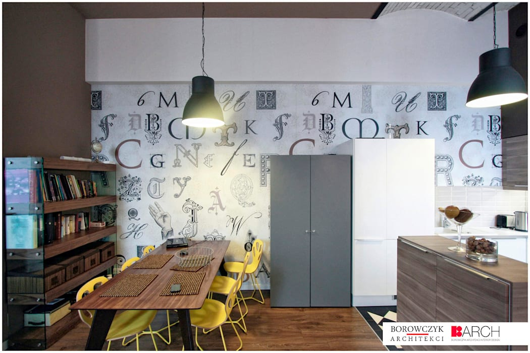 Borowczyk Architekci Industrial style dining room