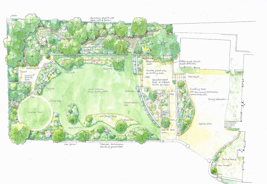 Garden plan by Christine Wilson Gardens