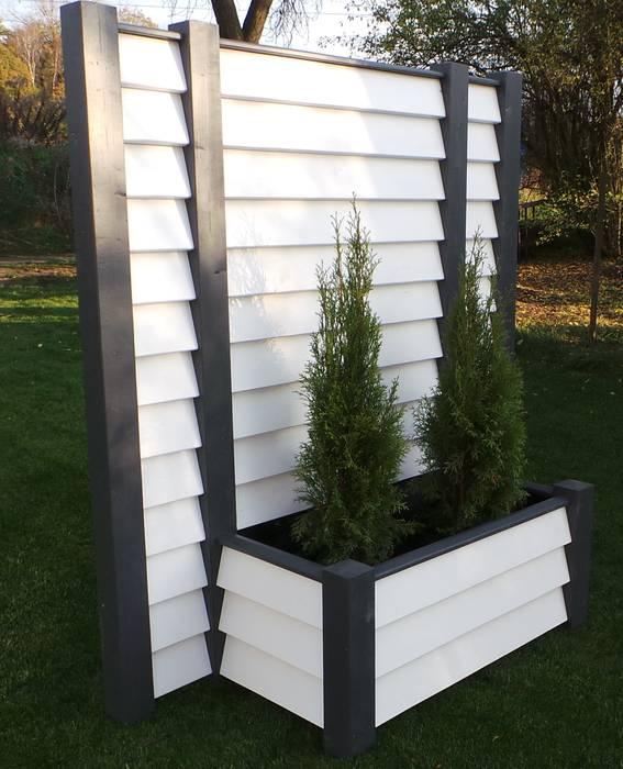Mobiler sichtschutz mit pflanzkasten – designobjekt: garten von ...