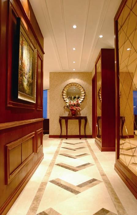 Corredores, halls e escadas ecléticos por White & Black Design Studio Eclético