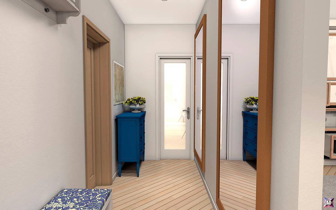 Квартира в Южном городе: Коридор и прихожая в . Автор – A.workshop, Модерн