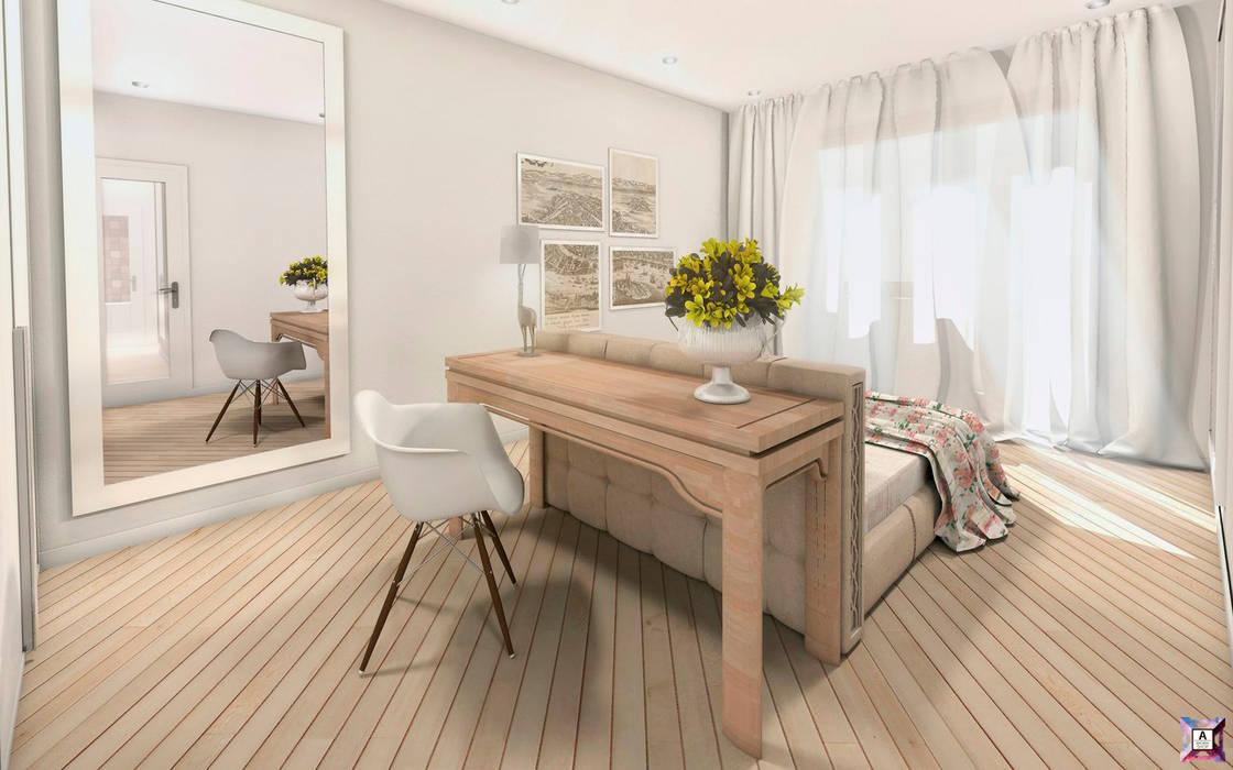 Квартира в Южном городе Спальня в стиле модерн от A.workshop Модерн