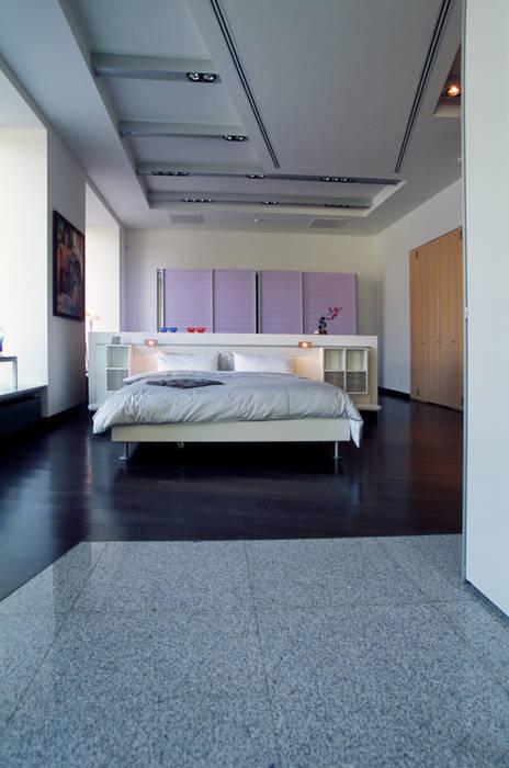 Вид на зону спальни: Офисы и магазины в . Автор – Архитектурное бюро Лены Гординой