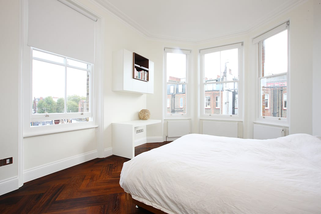 South Brompton Apartments, London:  Bedroom by PAD ARCHITECTS, Minimalist