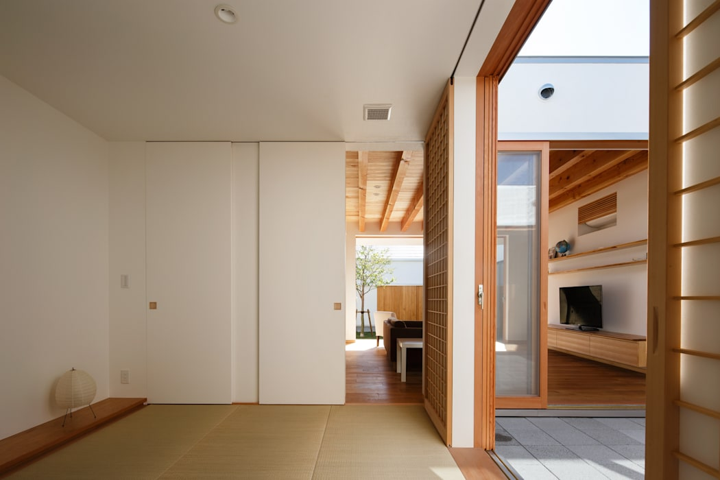 和室 和風デザインの 多目的室 の 窪江建築設計事務所 和風