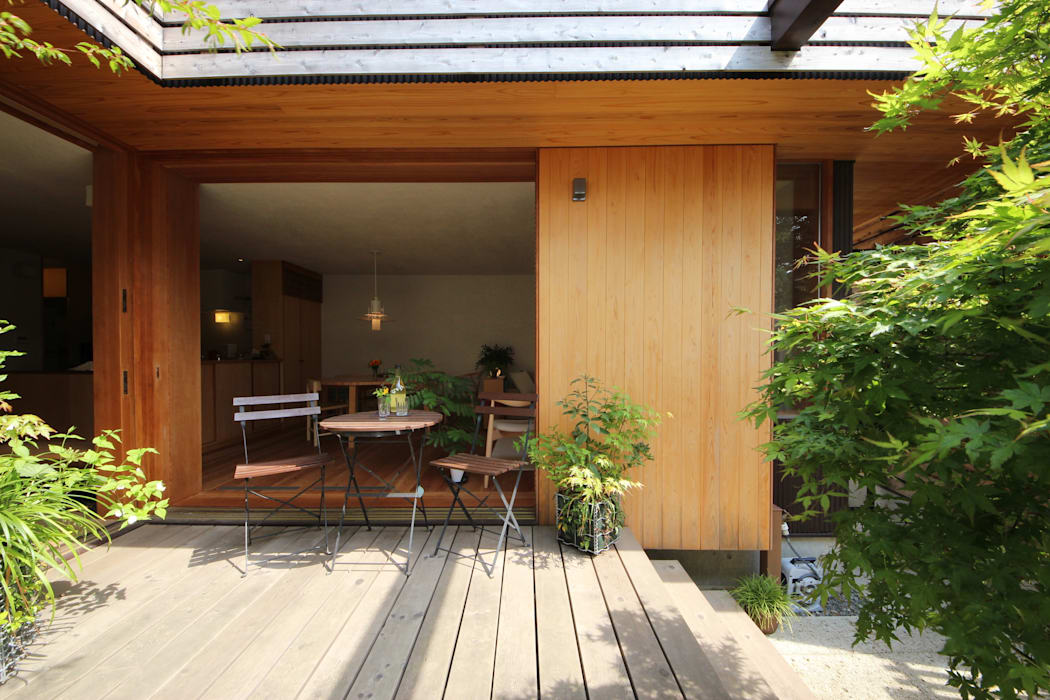 荏田町の家 新井アトリエ一級建築士事務所 モダンな庭